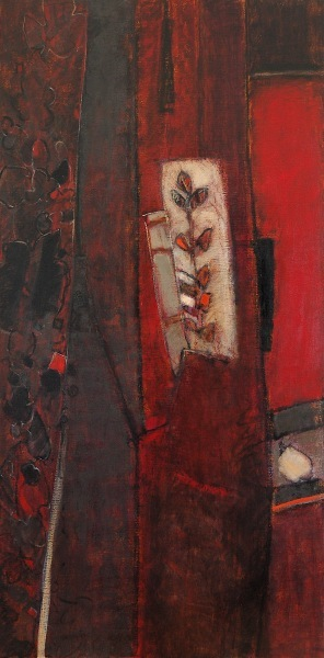 variations: rouge I - 60x120 - huile sur toile